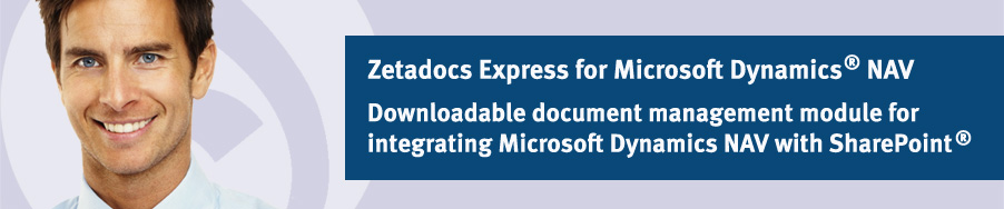 Zetadocs Express for Microsoft Dynamica NAV - Downloadable document management module available at no cost from Equisys